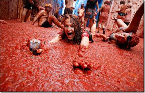 Spain Tomatina Food Fight