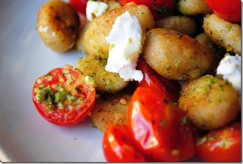 Crispy Gnocchi With Basil Pesto Recipe — Dishmaps