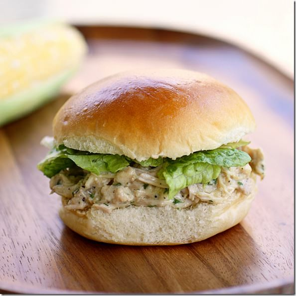 slow-cooker-chicken-caesar-sandwiches