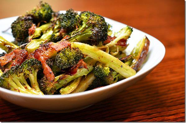 ovenroastedbaconandbroccoli