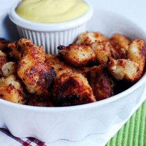 Chick-fil-A Bites with Honey Mustard Dipping Sauce #glutenfree #copycat | iowagirleats.com