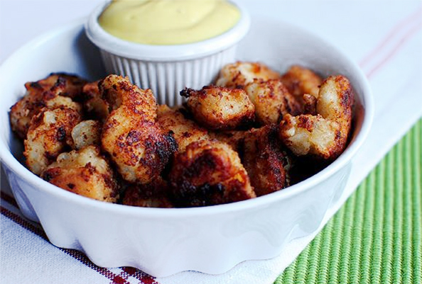 Chick-fil-A Bites with Honey Mustard Dipping Sauce #glutenfree #copycat   iowagirleats.com
