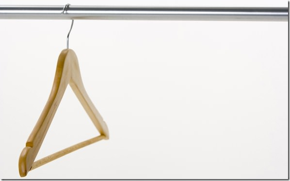 Single Coat Hanger On Rail