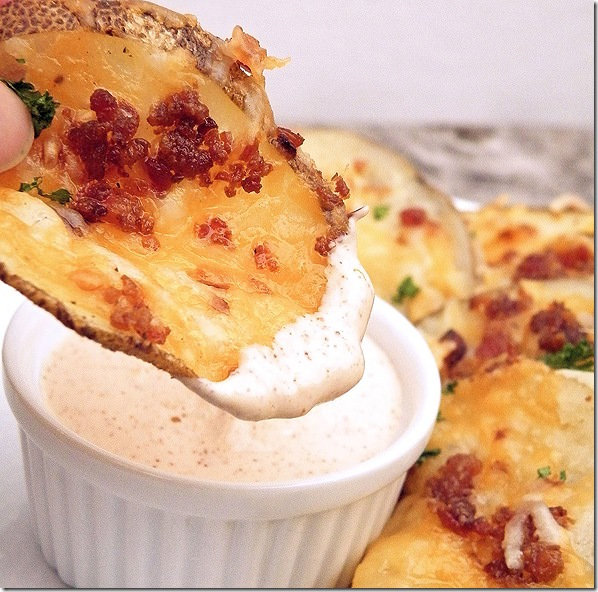 loaded oven chips dip
