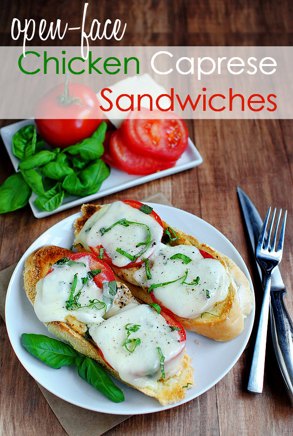 sandwich chicken and avocado caprese open faced sandwich open face