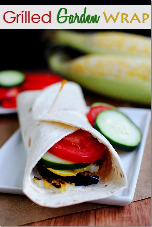 Grilled Garden Vegetable Wrap - Iowa Girl Eats
