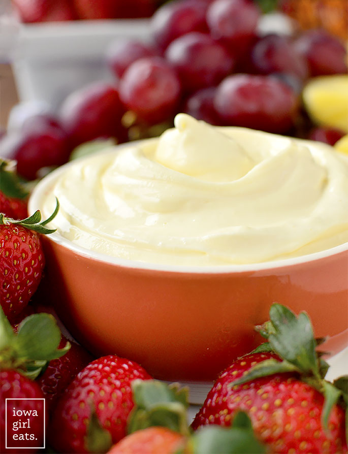 Image of The Best Fruit Dip Ever and Fruit