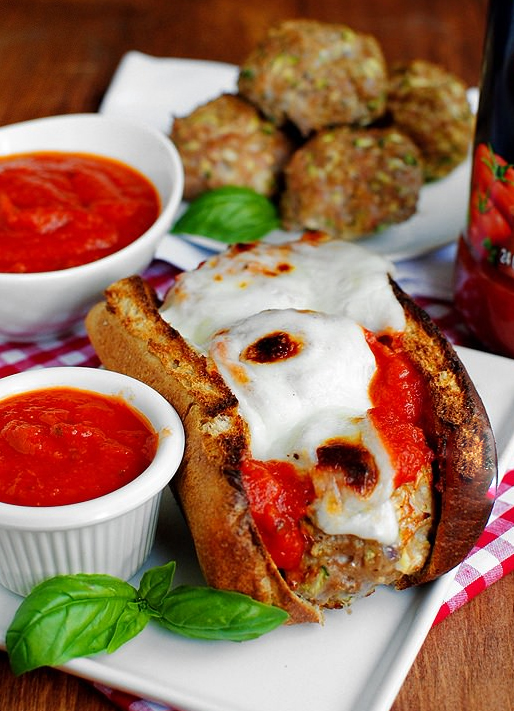 Sneaky Meatball Subs #glutenfree   iowagirleats.com