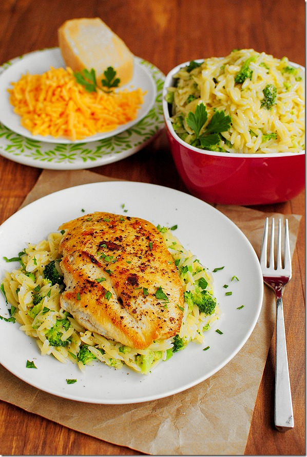 Cheesy broccoli orzo iowa girl eats for What side dishes go with fish
