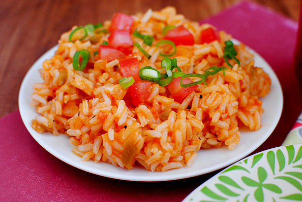 Photo of plate of Mexican Rice