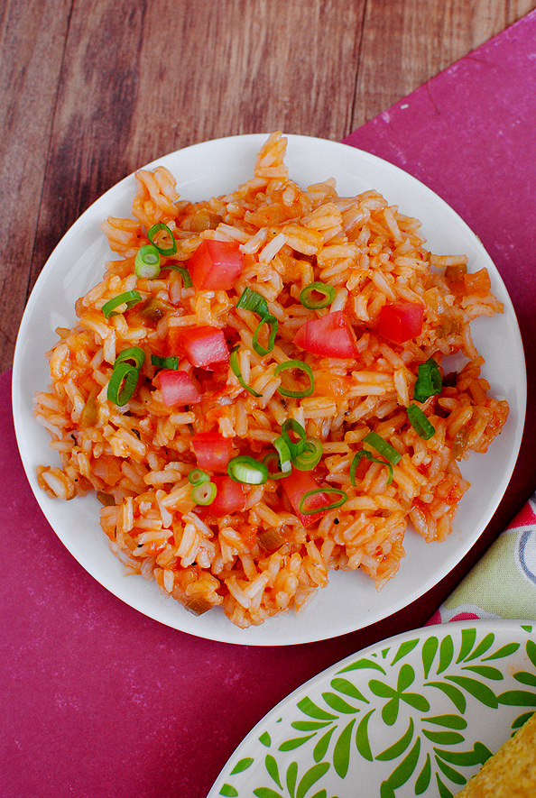 Overhead photo of Mexican Rice