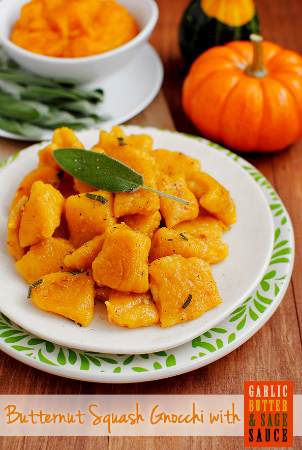 Butternut Squash Gnocchi with Garlic Butter & Sage Sauce is comforting ...