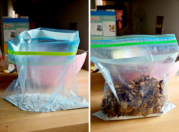 Gluten-Free Puppy Chow is a quick and classic gluten-free holiday treat (for humans!) Chocolate, peanut butter, and powdered sugar combine to make one addicting little snack. | iowagirleats.com