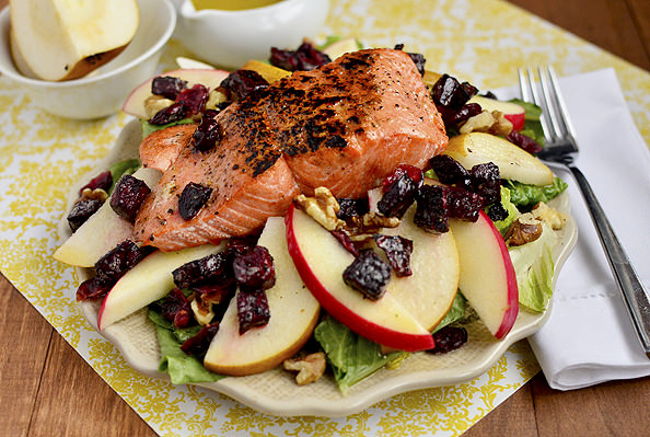 Autumn Salmon Salad via