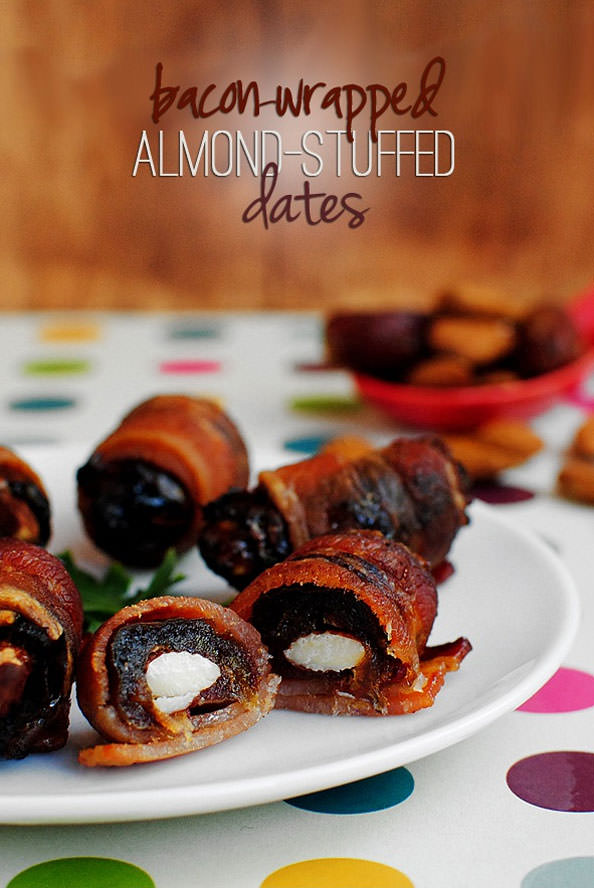Bacon Wrapped Almond Stuffe
