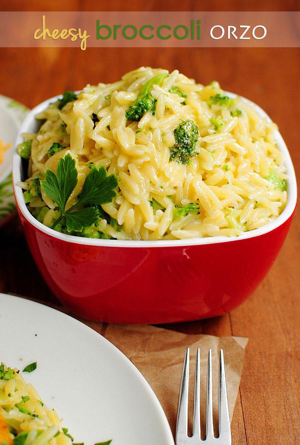 Cheesy Broccoli Orzo via