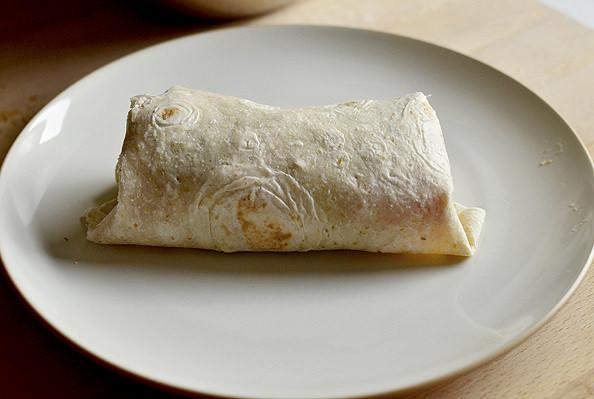 Chicken Caesar Salad Wrap via Iowa Girl Eats