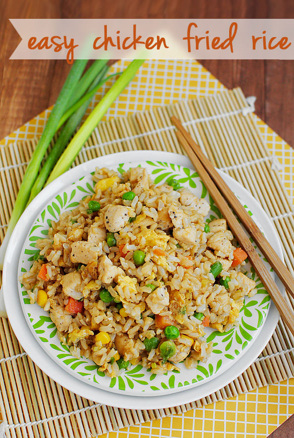 Easy Chicken Fried Rice via