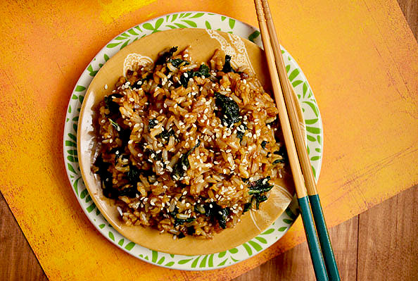 Must Try Kale Fried Rice from Iowa