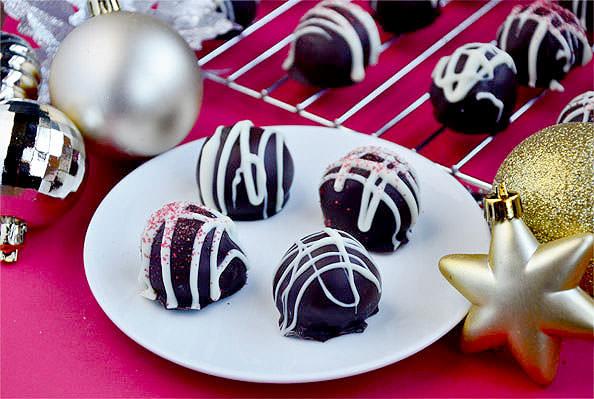 Red Velvet Cake Balls from