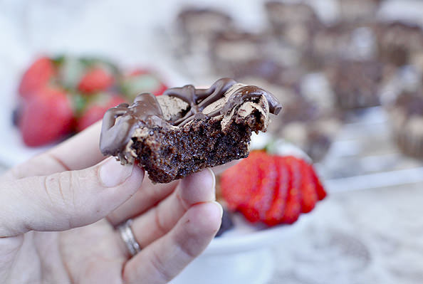 Mini Chocolate Meringue Cupcakes via Iowa Girl Eats