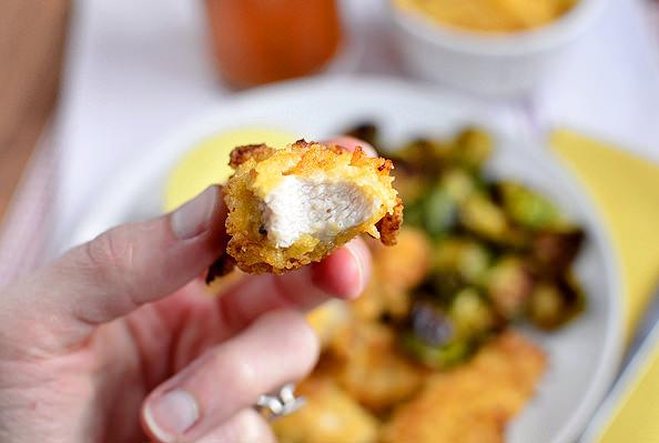 Potato Chip Chicken Fingers via @Iowa Girl Eats