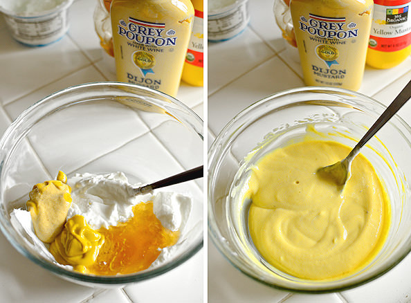 Honey Mustard Dipping Sauce via @Iowa Girl Eats