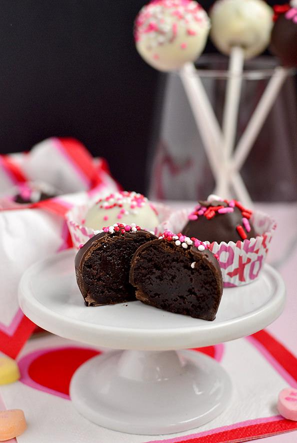 Brownie Mix Truffles via Iowa Girl Eats