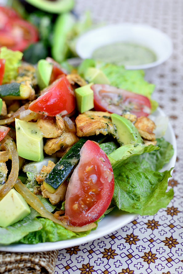 Baja Chicken Salad Chicken Fajita Sizzling Salad