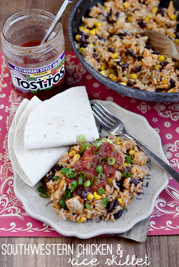 Southwestern Chicken and Rice Skillet | iowagirleats.com