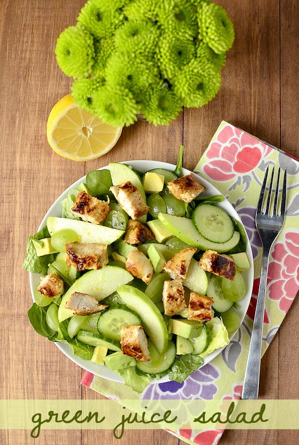 Green Juice Salad | iowagirleats.com