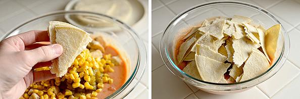 Lazy Girl's Chicken Enchilada Casserole | iowagirleats.com