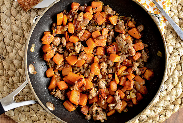 Maple Sweet Potato Hash | iowagirleats.com