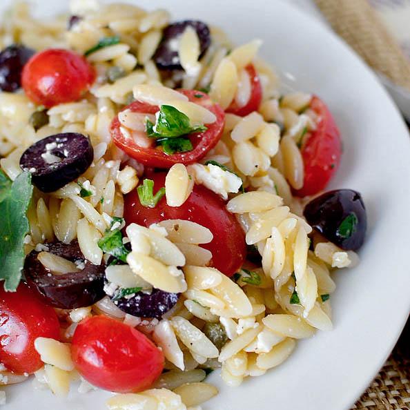Mediterranean Orzo Salad Iowa Girl Eats