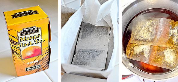 Copycat Caribou Coffee Sparkling Peach Black Tea | iowagirleats.com