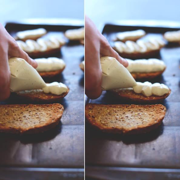 Whipped Bleu Cheese Balsamic Bites from Dana @ Minimalist Baker   iowagirleats.com