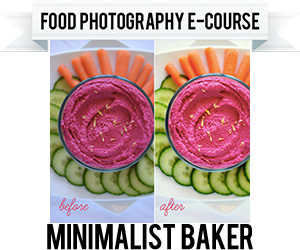 Minimalist Baker Food Photography E-Course