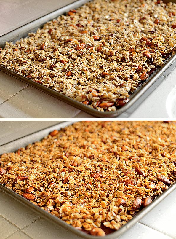 Homemade Maple Almond Granola | iowagirleats.com