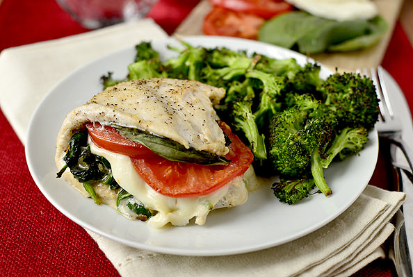... about stuffed chicken, shall we? Caprese Stuffed Chicken to be exact