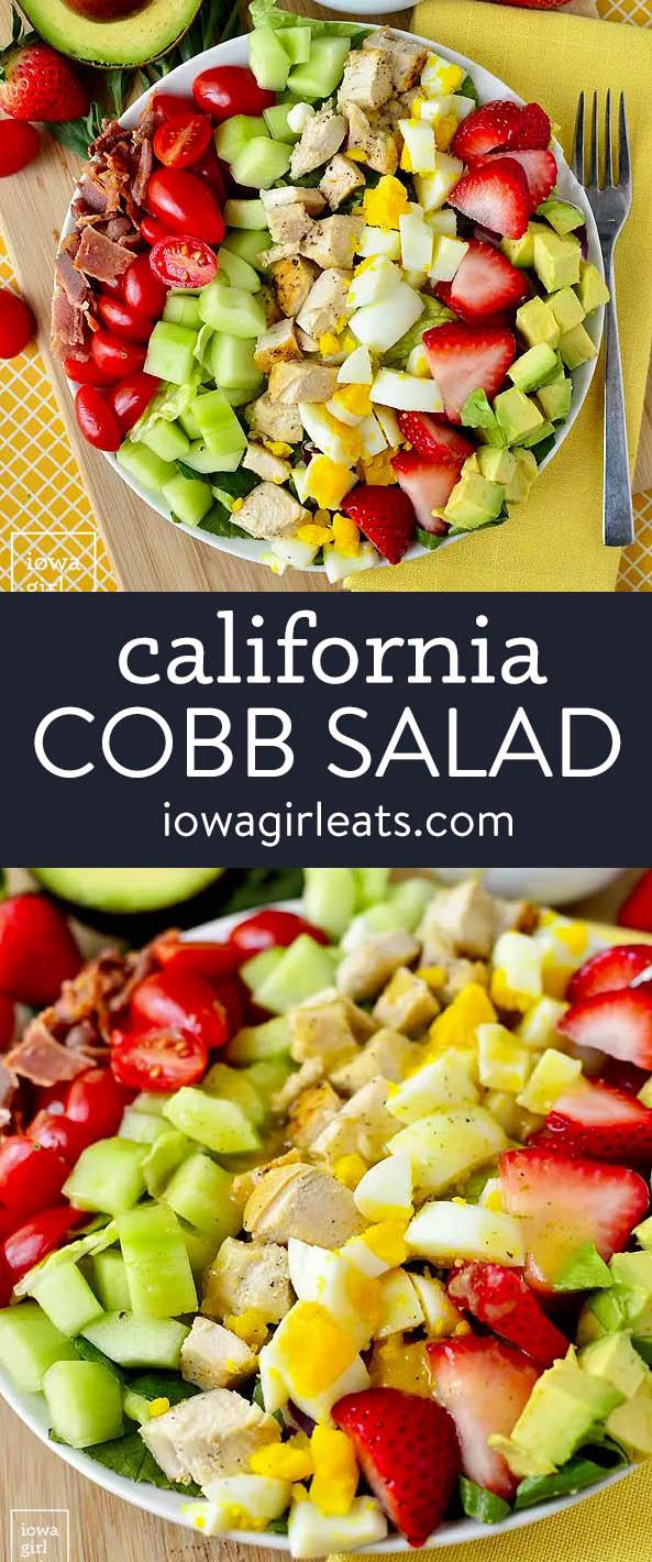 photo collage of california cobb salad