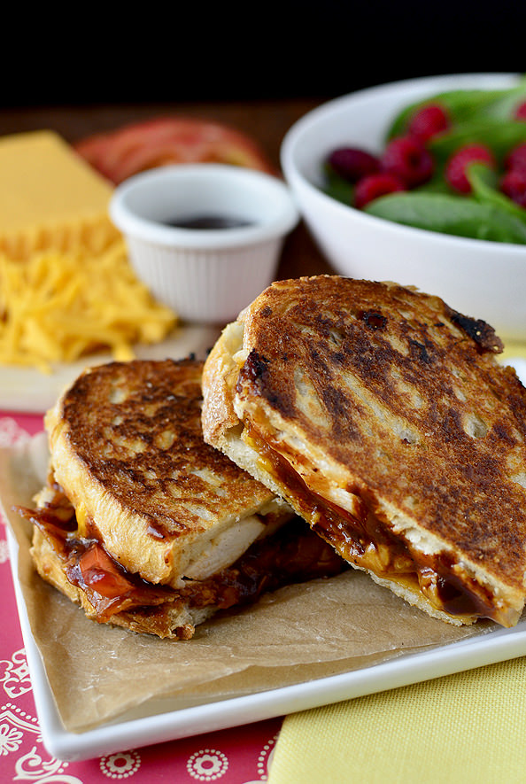 Mini Grilled Cheese Sandwiches With Chicken Recipe — Dishmaps
