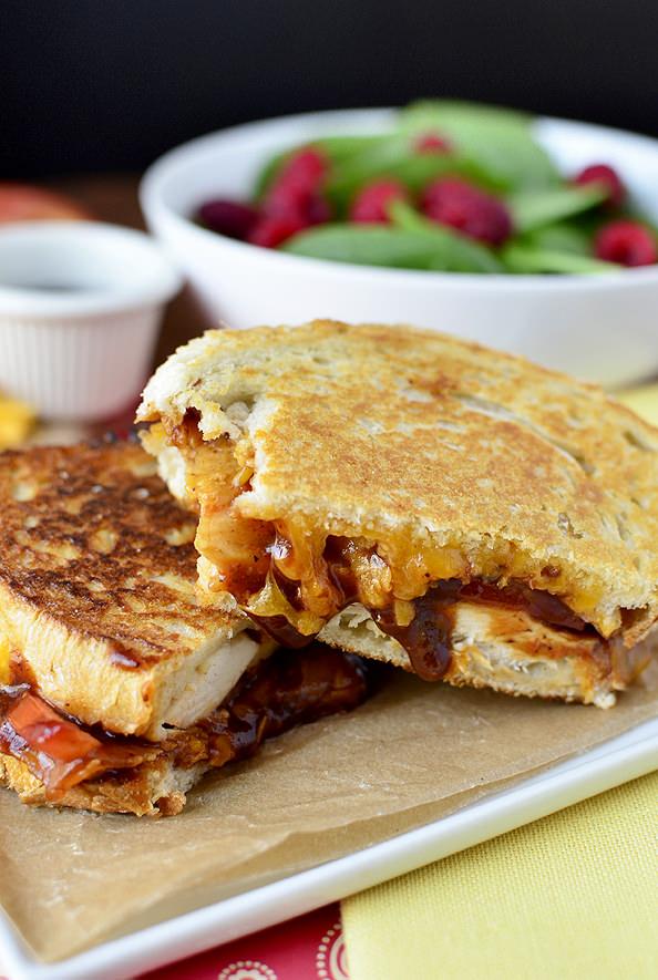 Monterey Chicken Grilled Cheese | iowagirleats.com