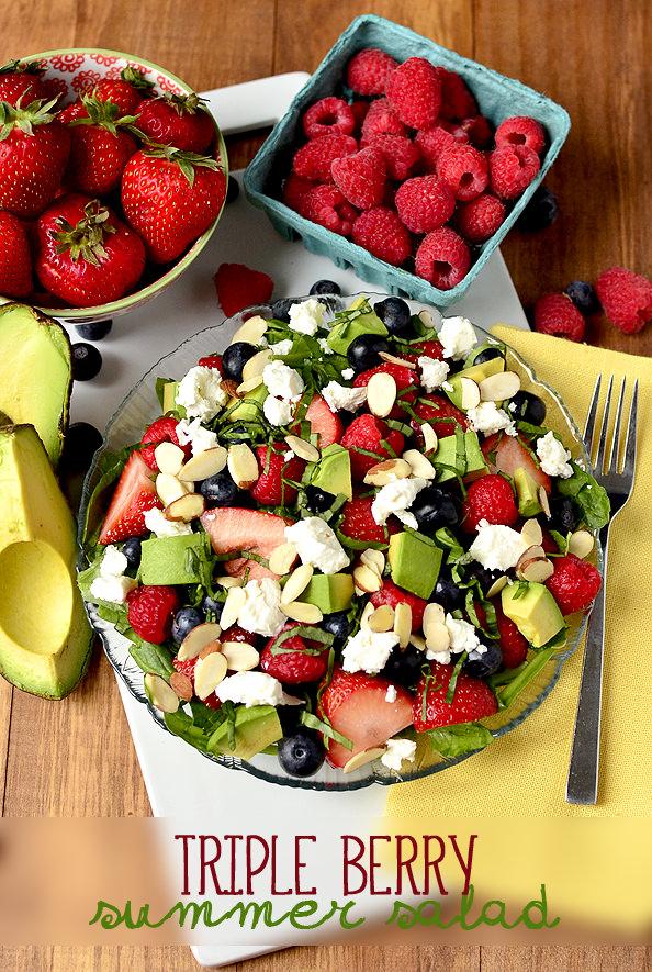 triple berry salad with triple berry salad with triple berry salad ...