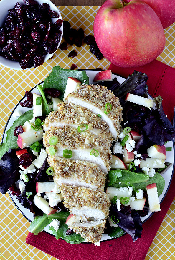 Maple Pecan Crusted Chicken Salad | iowagirleats.com