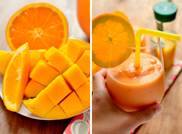 Pineapple, Mango & Orange Smoothie (with a secret ingredient!)   iowagirleats.com