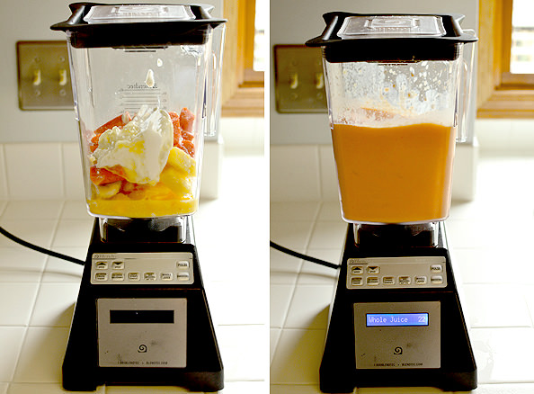 Pineapple, Mango & Orange Smoothie (with a secret ingredient!) | iowagirleats.com