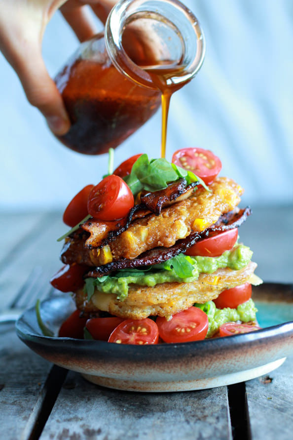 Avocado-and-Gouda-BLT-Corn-Fritter-Stacks-with-Chipotle-Bourbon-Dressing-4_mini