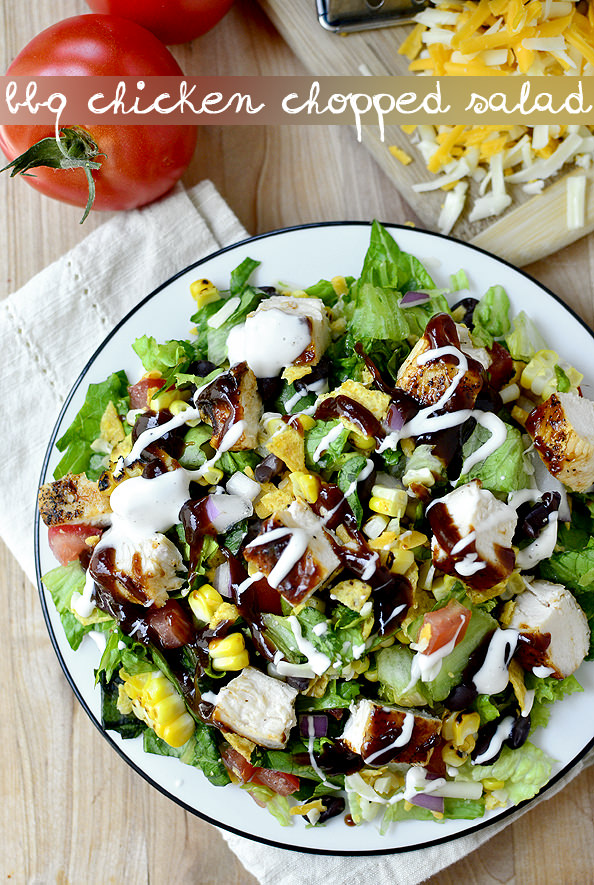 BBQ Chicken Chopped Salad | iowagirleats.com