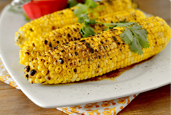 Grilled Sweet Corn with Chili Lime Honey Butter   iowagirleats.com