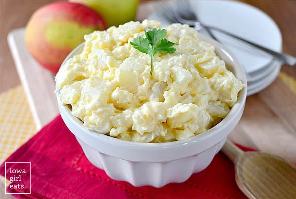 creamy classic potato salad in a bowl